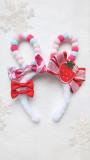 Alice Girl -Cream Strawberry- Sweet Cute Rabbit Ear Headdress
