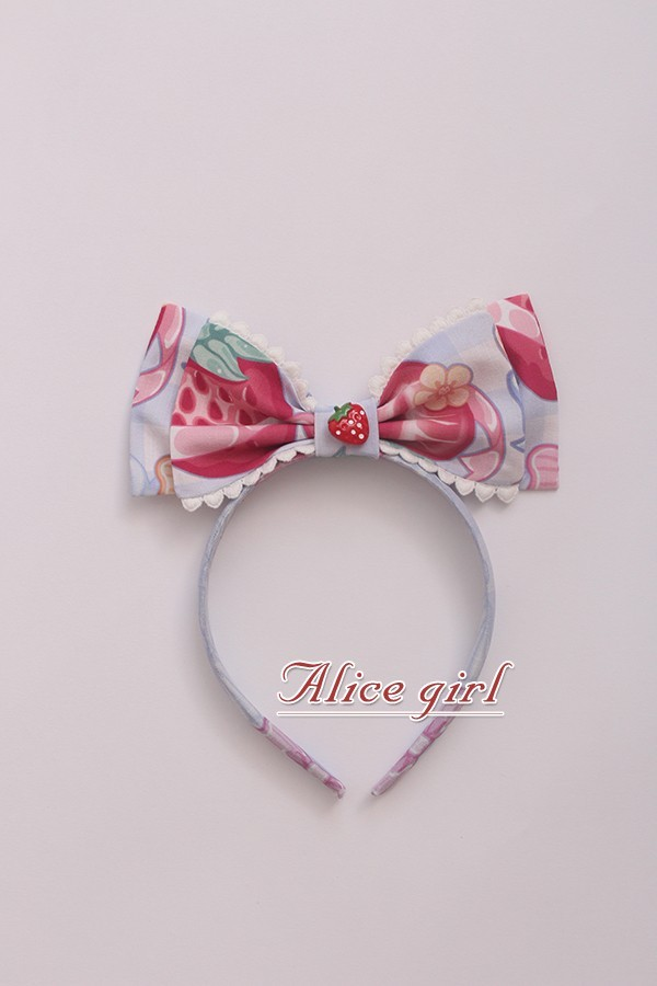 Alice Girl -Cream Strawberry- Sweet Lolita Headbow