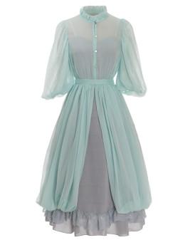 Neo Ludwig -Bud- Classic Casual Lolita Dress Set(Overskirt and JSK Inside)