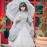 Neo Ludwig -Bud- Classic Casual Lolita Dress Set(Overskirt and JSK Inside)