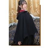 Hanweika -Halloween Woolen Lolita Cape for Autumn and Winter