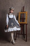 Sika Lolita -The Cross- Long Sleeve Classic College Lolita OP One Piece Dress