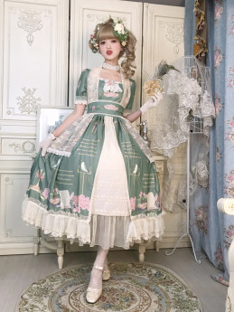 Miss Point -The Poem of Rose- Sweet Princess Rococo Lolita OP One Piece Dress