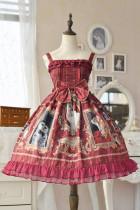 Doris Night -Cat Painting- Sweet Cat Themed Lolita JSK Jumper Skirt