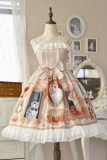 Doris Night -Cat Painting- Sweet Cat Themed Lolita JSK Jumper Skirt