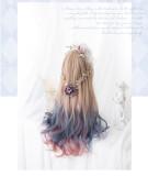 Heng Ji -75cm Long Big Curly WavyPastel Rainbow Lolita Wig