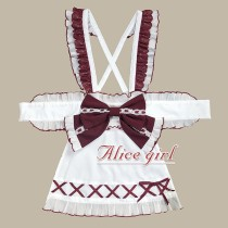 Alice Girl -Fortune Cat- Lolita Apron and Hairclip