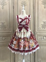 Alice Girl -Fortune Cat- Wa Lolita JSK Jumper Skirt Dress