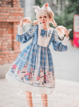 Baduoni -Dorney Rabbit's Hand Letter- Sweet Lolita OP One Piece Dress