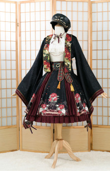 Fantastic Wind -Peony- Wa Military Lolita Set