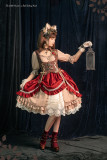 The Little Hunters in Red Riding Hood - Steam Punk Lolita OP Dress and Petticoat Set