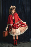 The Little Hunters in Red Riding Hood - Steam Punk Lolita Cape
