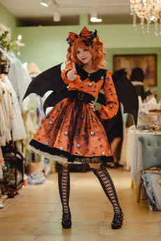 Miss Point -Halloween Gothic Punk Lolita OP One Piece Dress