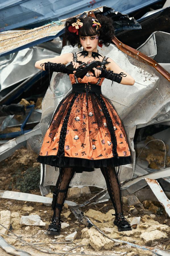 Miss Point -Halloween Gothic Punk Lolita JSK Jumper Skirt Dress
