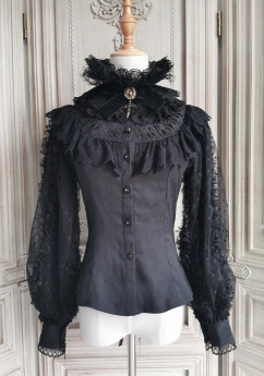 Miss Point -Gothic Punk Lolita Blouse