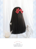 Heng Ji -Wa 60cm Long Straight Black Lolita Wig