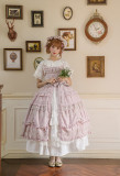 Little Dipper -Charming Fragrance- Classic Lolita Jumper Skirt Dress(Pure Color Version)