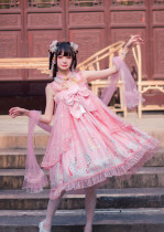 CYLolita -Moon Rabbit- High Waist Qi Lolita Jumper Skirt Dress