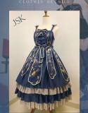 Cold Moon- Qi Lolita Jumper Skirt Dress
