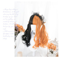 Hengji - Halloween Theme Black and Orange Lolita Wig
