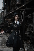 YourHighness -The Dark Knight- Ouji Military Lolita Set(Long Coat, Blouse and Skirt)