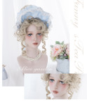 Alice Garden - Curly Wavy Blond Lolita Tea Party Wig