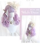 Alice Garden - 45cm Middle Length Curly Wavy Pastel Rainbow Lolita Wig