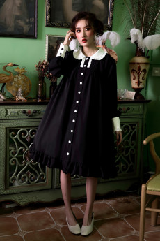 ANNA -Aanna's Dresses- Casual Vintage High Waist Lolita One Piece Dress