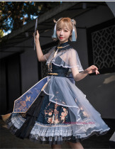 Uwowo -Cloud and Mist Makeup- Qi Lolita JSK Full Set