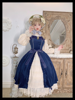 Miss Point -Mrs Jennifer- Vintage Classic Lolita JSK for Autumn and Winter