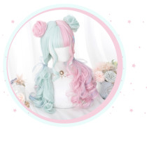 Alice Garden - 57cm Long Curly Wavy Colorful Lolita Wig