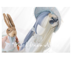 Alice Garden - Blue and White Splite Lolita Wig