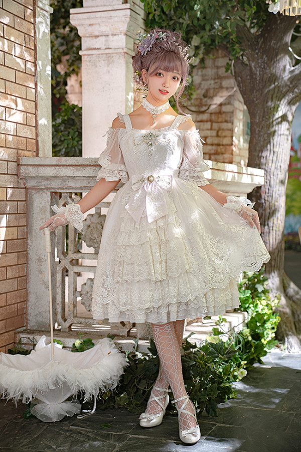 Secret Garden in Midsummer Classic Lolita Blouse and Bolero