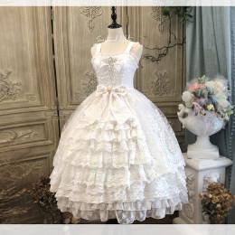 Secret Garden in Midsummer Tea Party Classic Lolita Jumper Skirt Dress