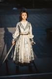 Fantastic Wind -Folk Song of Changan- Qi Military Lolita One Piece Dress