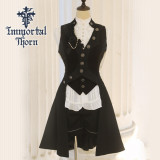 Immortal Thorn - Ouji Lolita Long Sleeveless Jacket