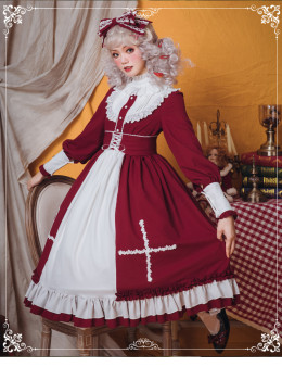 Eieyomi -Miss Lolita- Gothic Lolita One Piece Dress