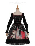 Poker Punk Lolita One Piece Dress(Version I)