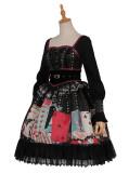 Poker Punk Lolita One Piece Dress(Version I)