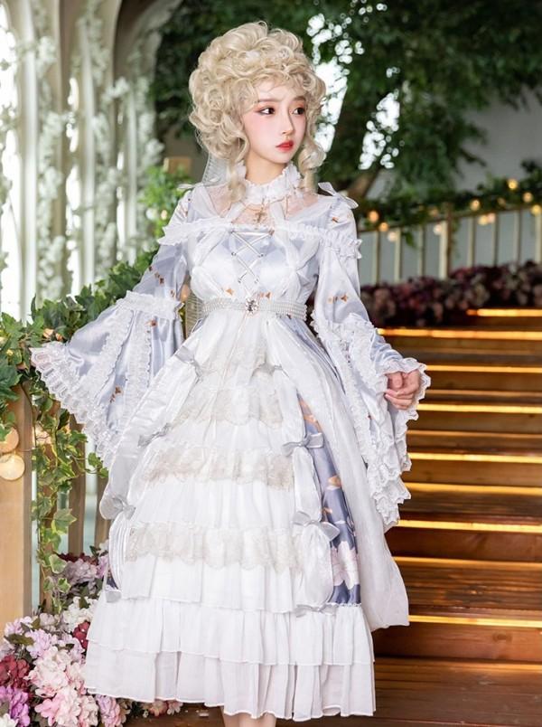 Cross and Lily Hime Princess Lolita One Piece Dress