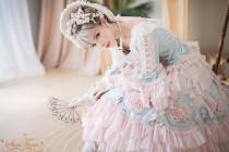 Tea Party Rococo Princee Lolita Headband and Bonnet