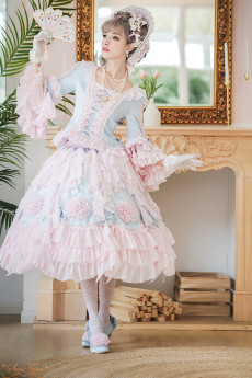 Tea Party Rococo Princee Lolita Blouse and Skirt