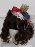 Milu Forest -Princess Snow Crowned in the Forest- Lolita Headbow with Crown and Stocking