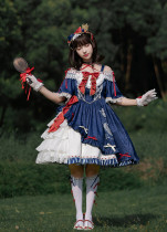 Milu Forest -Princess Snow Crowned in the Forest- Sweet Off Shoulder Lolita OP Dress