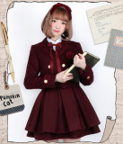 Pumpkin Cat -Excellent Students- Lolita Short Jacket and Skirt