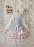 Alice girl -Cat Tea Party- Sweet Lolita Salopettes