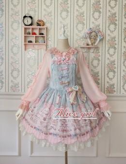 Alice girl -Cat Tea Party- Sweet Lolita Salopettes