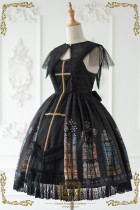 CEL -The Holy Cross- Classic Lolita JSK Dress with Detachable Collar(Front Open Version)