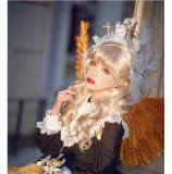 CastleToo -The God Come in the World- Lolita Gold Cross Headdress and Headband