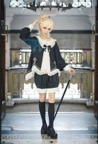 CastleToo -The God Come in the World- Gothic Ouji Lolita Short Jacket and Pants
